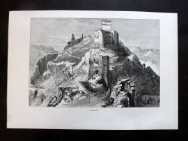 Picturesque Europe C1875 Antique Print. Alarcon, Spain